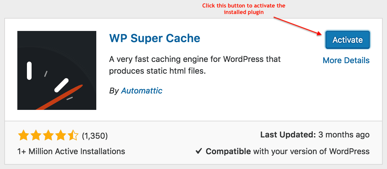 activating a plugin in wordpress