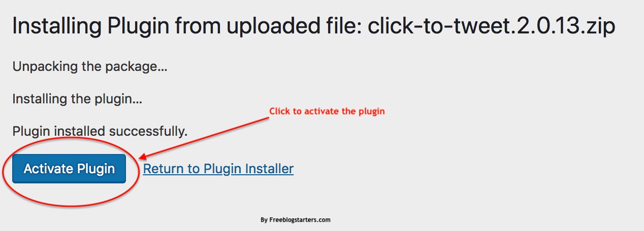 how to activate a plugin in WordPress