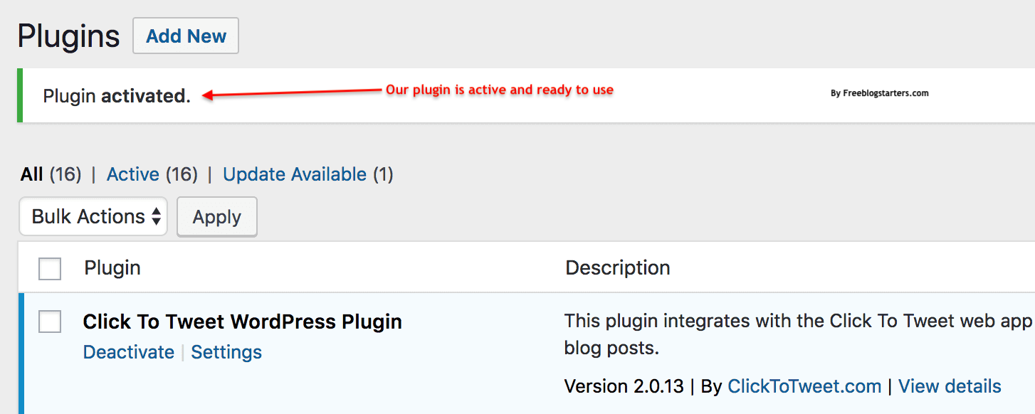 how to use installed plugin