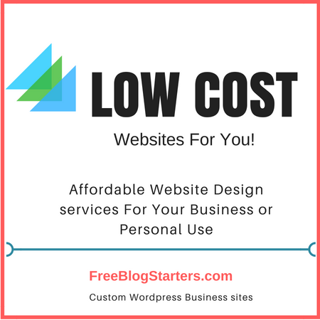 Affordable and Low Cost Website Design Services