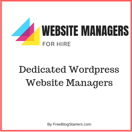 Hire someone to manage your wordpress website/blog
